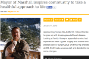 Mayor of Marshall inspires community to take a healthful approach to life