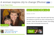 A woman inspires city to change