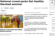 National crowd packs Get Healthy Marshall seminar