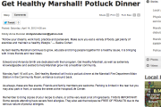 Get Healthy Marshall! Potluck Dinner